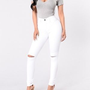 Fashion Nova Canopy White Jeans